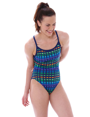 Women Swimsuit Signature Chek Sprindback by Zoggs
